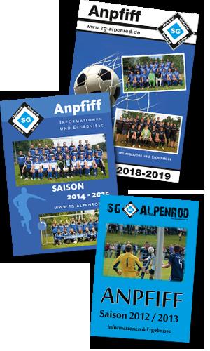 """Archiv Vereinszeitschrift """"Anpfiff"""" der SG Alpenrod"""
